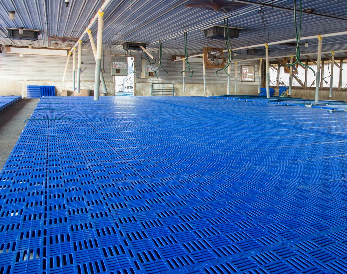 piso plastico destete